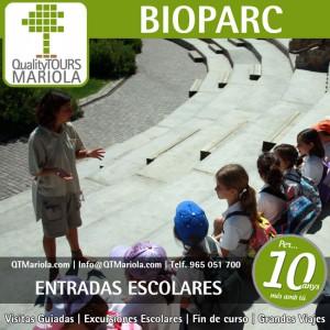 entradas escolares bioparc, biopar, valencia