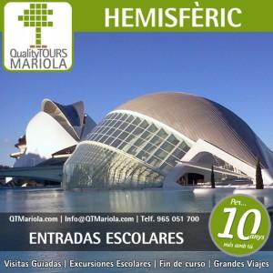 entradas escolares hemisferic, ciudad de las artes y de las ciencias, valencia, valencia cruise excursions, ciudad de las artes y de las ciencias en valencia
