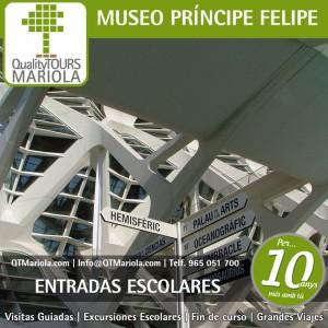 entradas escolares museo principe felipe, ciudad de las artes y de las ciencias, valencia
