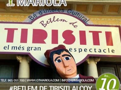 BETLEM DE TIRISITI alcoy, Abierto plazo reservas Betlem de Tirisiti Alcoy, excursión escolar Betlem de Tirisiti Alcoy