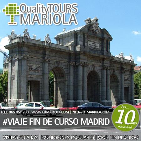 VIAJE FIN DE CURSO MADRID, viaje fin de curso