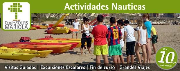 actividades náuticas escolares
