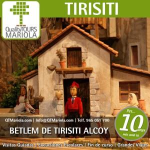 excursion escolar betlem de tirisiti alcoy, visita colegios Betlem de Tirisiti Alcoy, excursiones escolares y visitas guiadas en Alcoi ciutat del Nadal