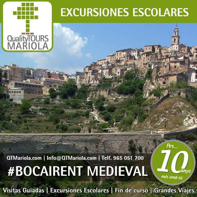 excursión escolar Bocairente, visita guiada Bocairente, excursiones escolares Bocairente, visitas guiadas Bocairente