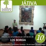 excursión escolar játiva, escursiones escolares játiva, visita guiada játiva, los borgia, los borja, visita colegios Játiva, Felipe V