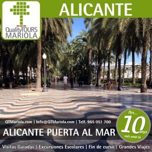 excursión escolar alicante, excursiones escolares alicante, visita guiada alicante, visitas guiadas alicante, visita colegios Alicante, explanada de españa alicante, excursiones cruceros alicante