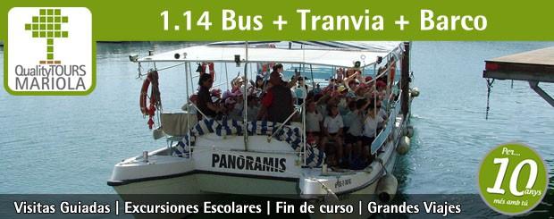excursión escolar bus + tranvia + barco, alicante, el campello