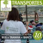 excursión escolar bus + tranvia + barco, alicante, el campello, visita colegios bus + tranvia + barco, monitores alicante