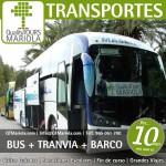 excursión escolar bus + tranvia + barco, alicante, el campello, visita colegios bus + tranvia + barco, bus alicante