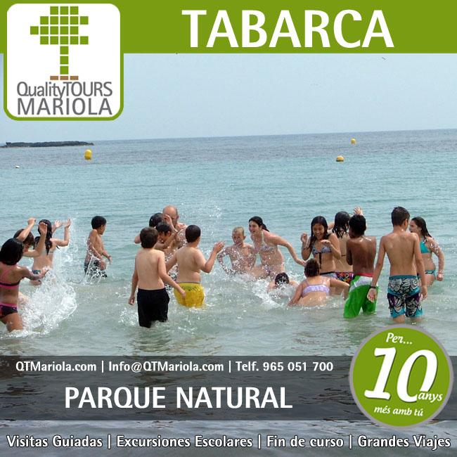 excursión escolar tabarca, excursión tabarca, parque natural tabarca, visita colegios Tabarca