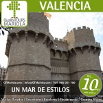 excursión escolar valencia, visita guiada valencia, ciudad de las artes y de las ciencias, visita colegios Valencia, torres de serrano valencia