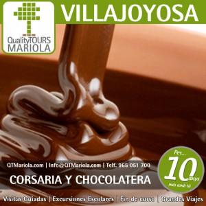 excursión escolar villajoyosa, visita guiada villajoyosa, visita fabrica chocolates valor