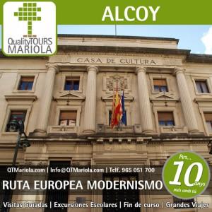 visita guiada Ruta Modernismo Alcoy, Excursión Escolar Alcoy