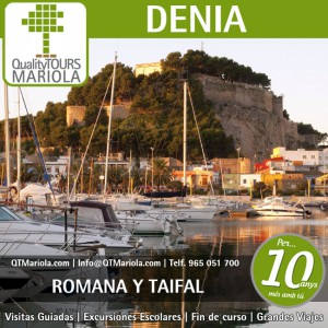 visita guiada denia, excursion escolar denia, guided tours denia