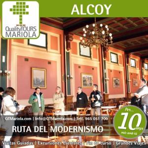 ruta del modernismo en Alcoy