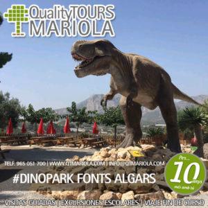entradas escolares Dinopark Fonts Algars