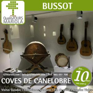 excursión escolar coves de canelobre, bussot, museo música étnica
