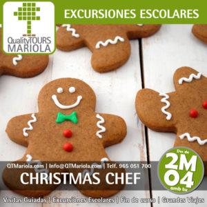 excursion escolar christmas chef