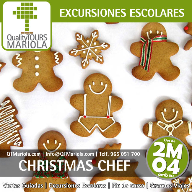 excursion escolar christmas chef