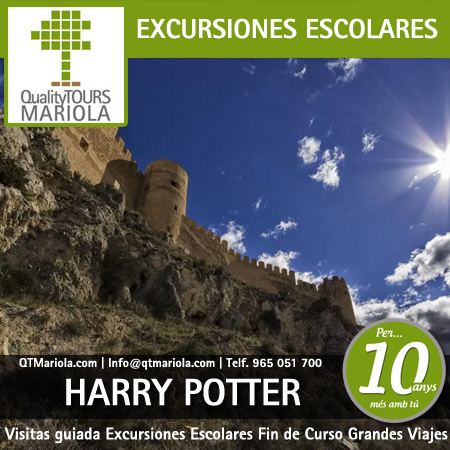 excursiones escolares harry potter en el castillo de castalla