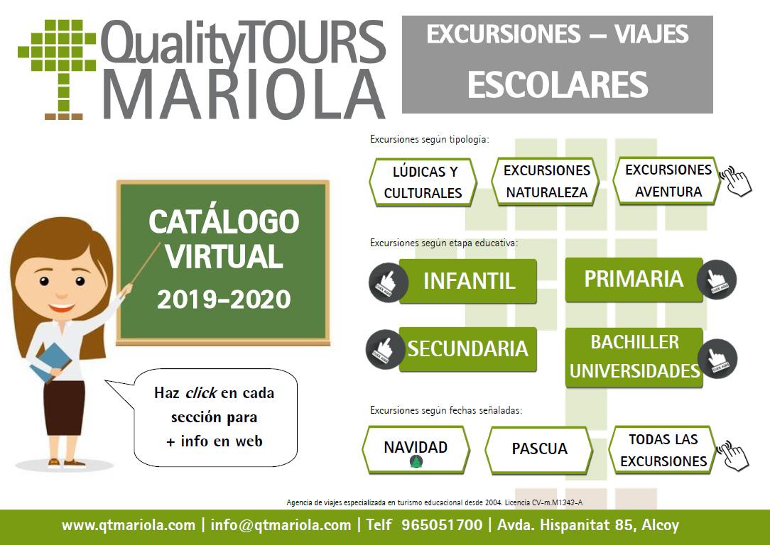Catalogo excursiones escolares Quality Tours Mariola