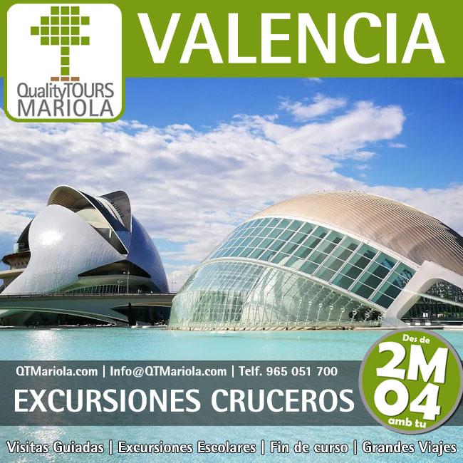 excursiones para cruceros en valencia