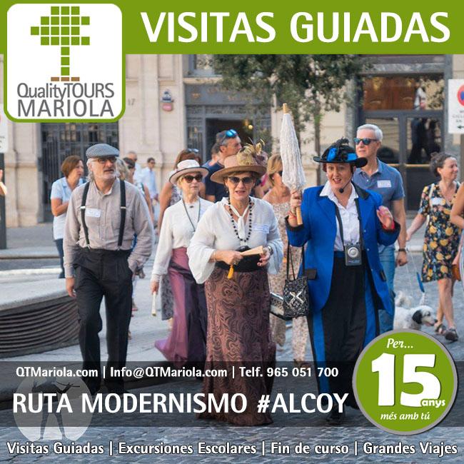 visitas guiadas ruta del modernismo en alcoy