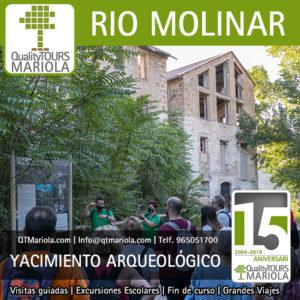 Senderismo interpretativo yacimiento arqueológico industrial río Molinar