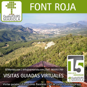 visitas guiadas virtuales parque natural de la font roja alcoy