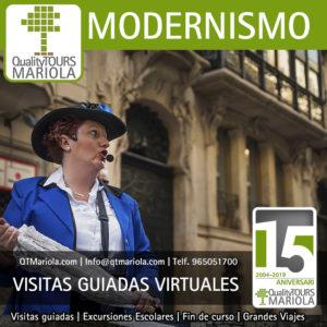 visitas guiadas virtuales ruta del modernismo alcoy